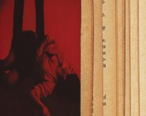 Erica Baum, Investigation (Naked Eye), 2014.  Archival pigment print, 15 1/2 x 19 1/2 in.  Bureau, N.Y.