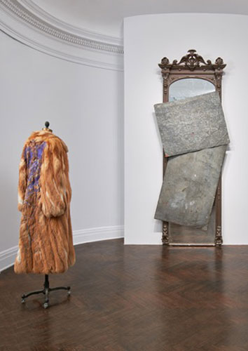 David Hammons Fur Coat and Mirror