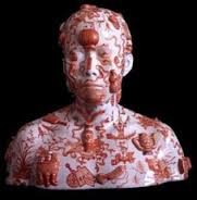 Ah Xian, China China 34, 1999.  Porcelain body cast with hand painting.